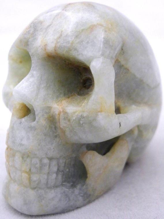 Raven's Carved Aquamarine Crystal Skull