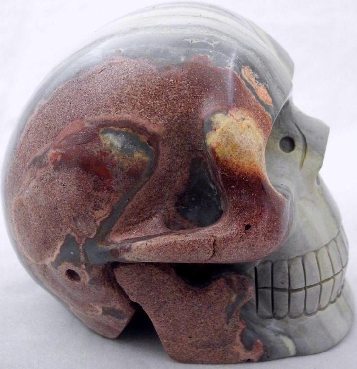 Raven's Carved Banded Jasper Crystal Skull
