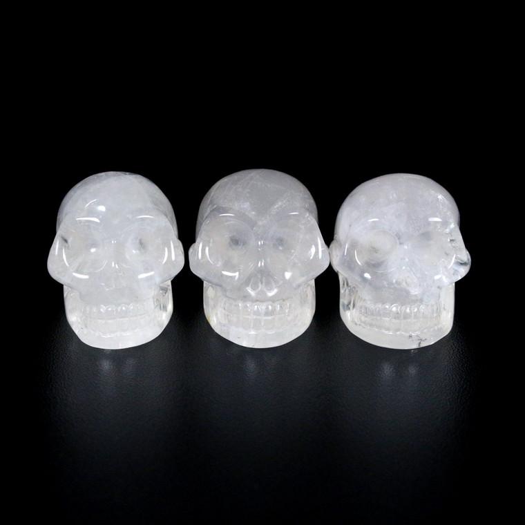 "Crystal Skull Mitchell Hedges Activated Moon Quartz 1.5"""