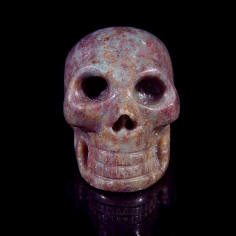 """Ruby Kyanite Crystal Skull 1.5"""""""