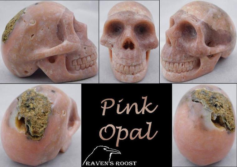 Raven's Peruvian Pink Opal Crystal Skull