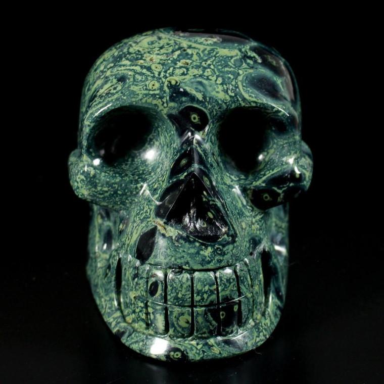 """Child Size Kambaba Jasper Crystal Skull 6"""""""