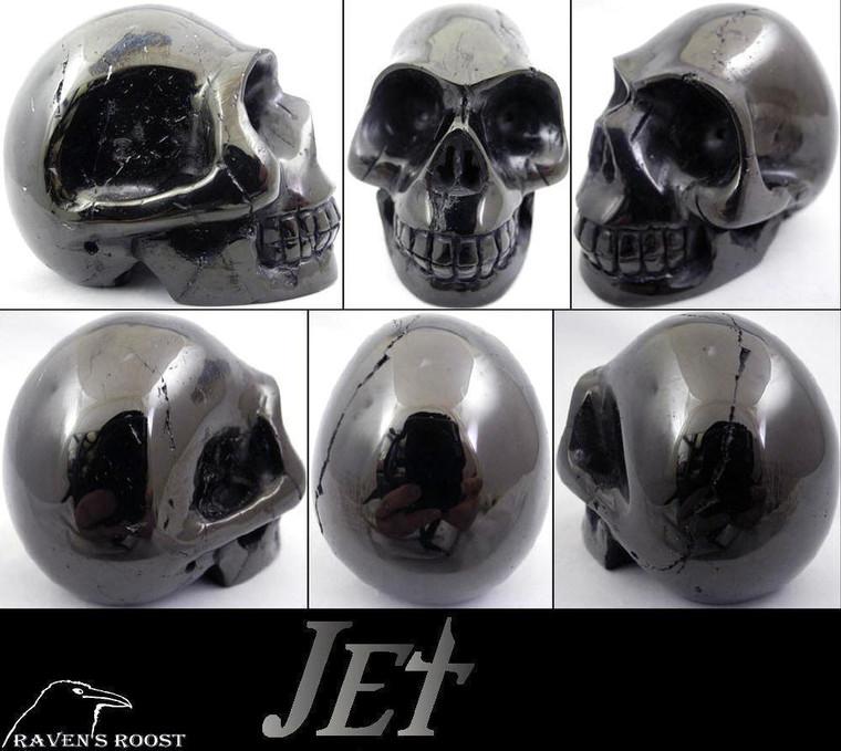 Raven's Carved Gem Quality Jet Crystal Skull