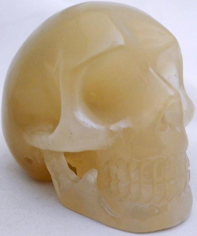 Raven's Carved Rutilated  Quartz Crystal Skull