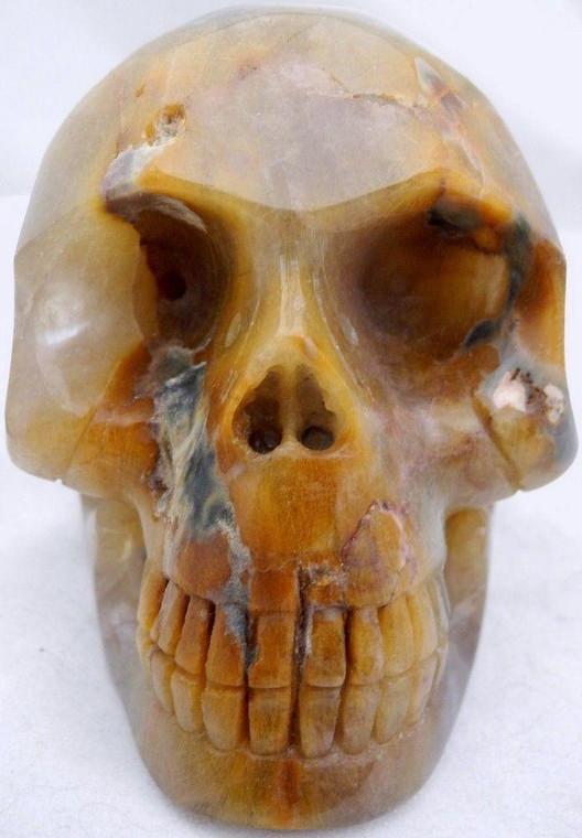 Raven's Rutilated Quartz Crystal Skull