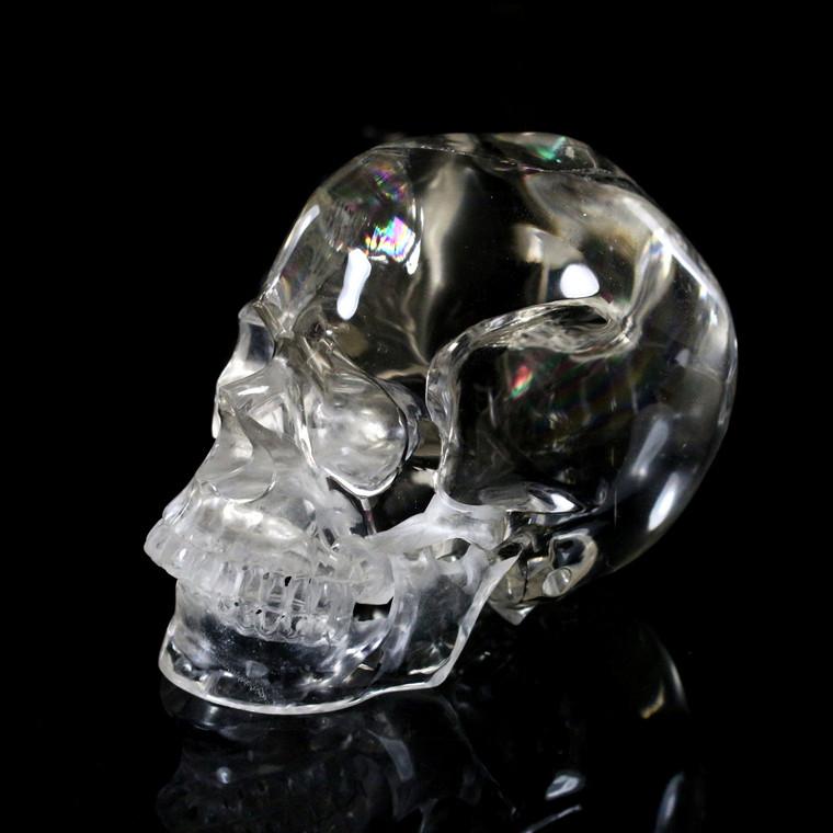 Optical Clear Quartz High Definition Crystal Skull Carving