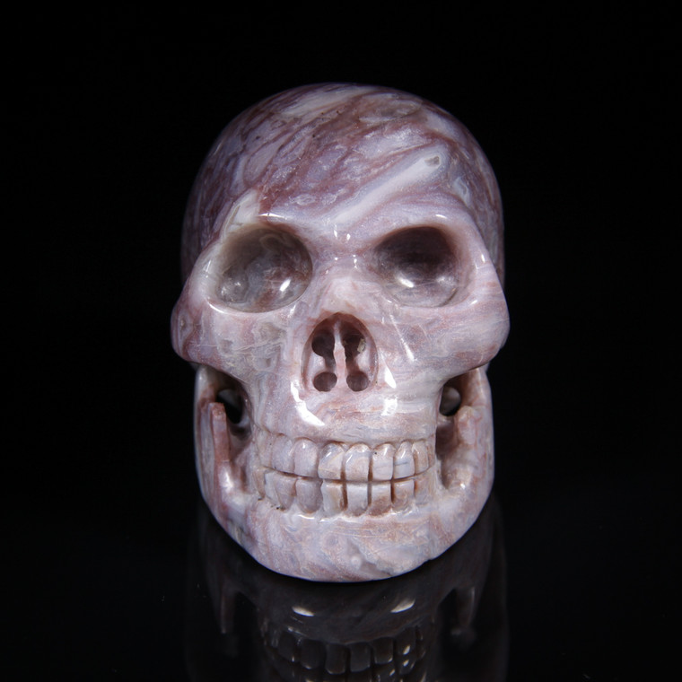 "Royal Agate Crystal Skull 3.25"""