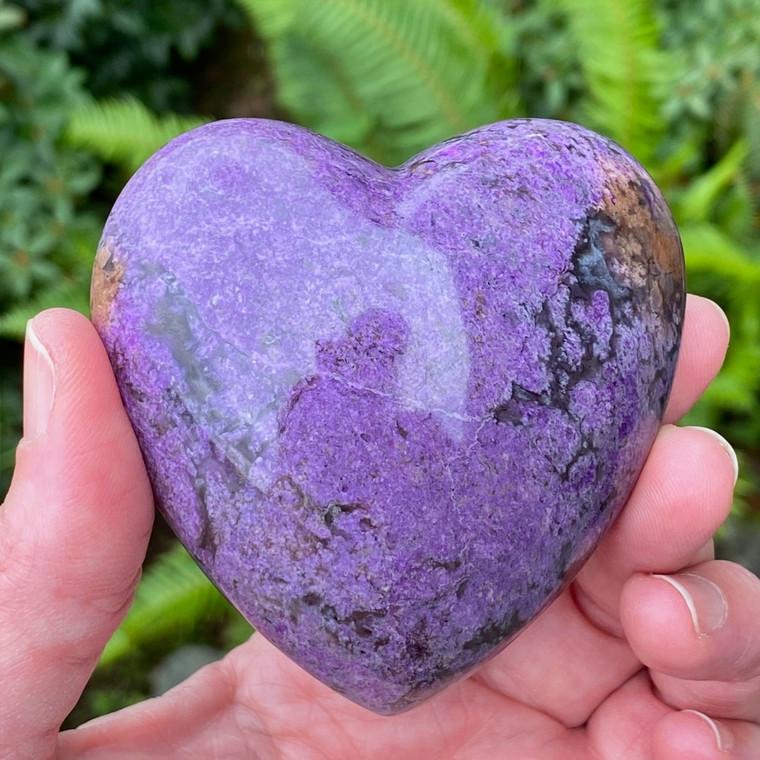 Super Fine Purple Sugilite Heart XXL