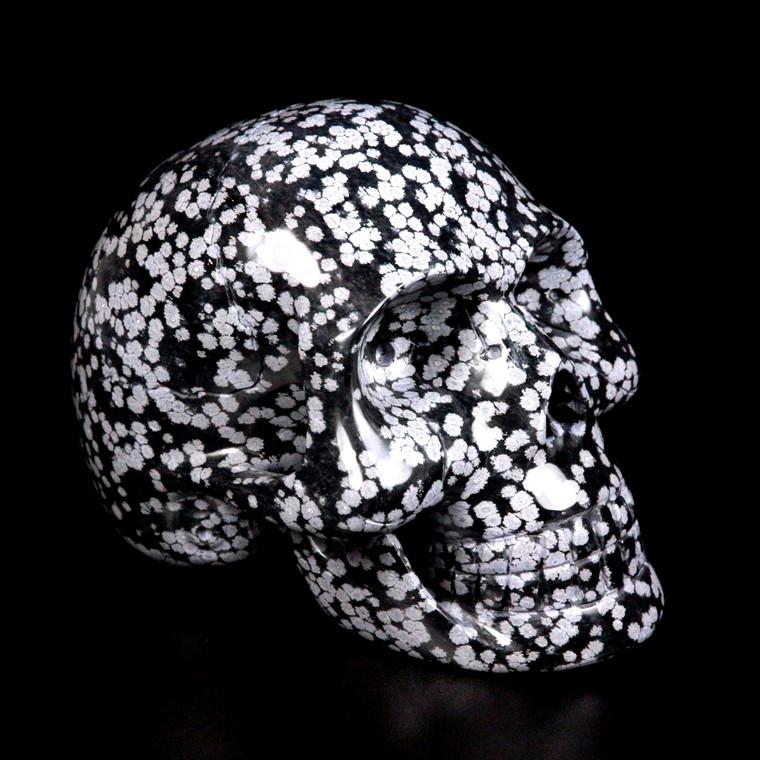 Raven's Own Child Life Size Snowflake Obsidian Crystal Skull