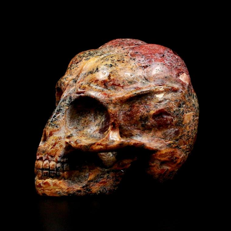 Raven's Fairy Fire Feldspar Alien Crystal Skull