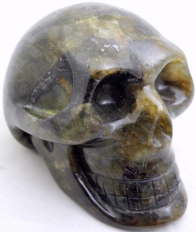 Raven's Colorful Flashy Labradorite  Crystal Skull