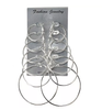 Silver Fashion Hoop Earrings