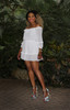 Port Royal  Dress in White Anti-wrinkle, breathable, Eco-friendly fabric Model by Robyn Ryan  Summer Look