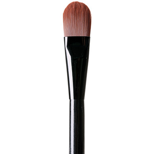 Foundation Brush Applies and blends in foundation for a flawless finish.  Material - super-soft and long-lasting Taklon fibers