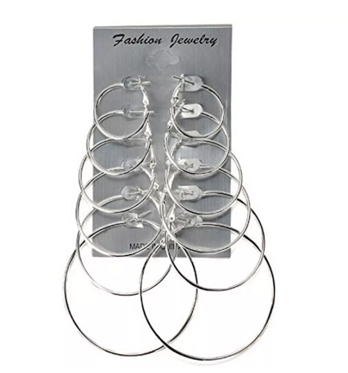 Silver Fashion Hoop Earrings