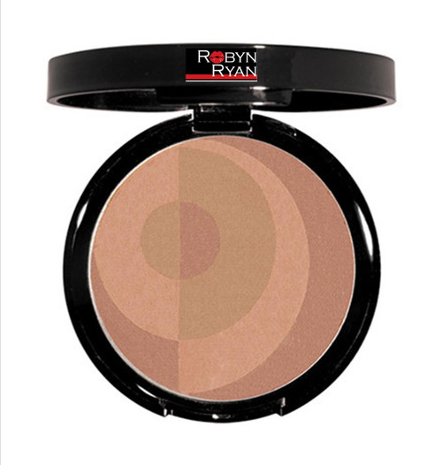Pressed bronzing powder Matte finish Sheer coverage