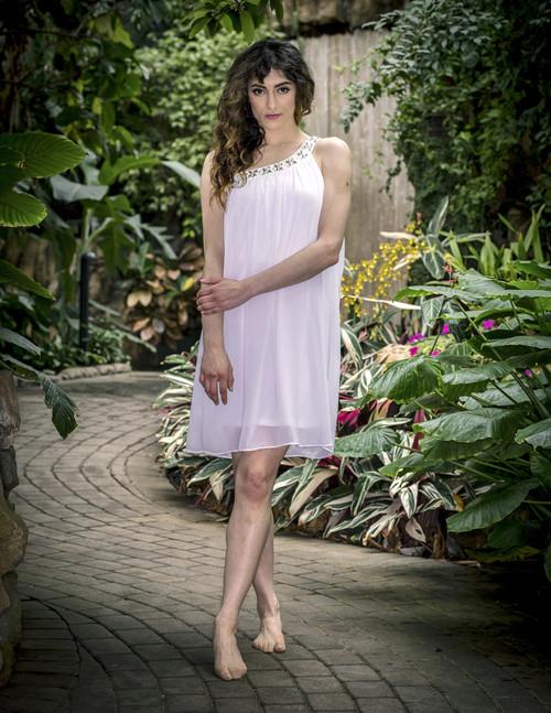 White Rose Sheer Dress