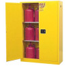 Flammable Liquid Storage Cabinet Open With Stored Liquid