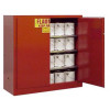 Flammable Paint and Ink Storage Cabinets Right Door Open