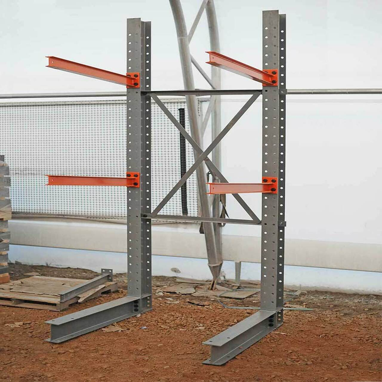 Assembled cantilever racking system