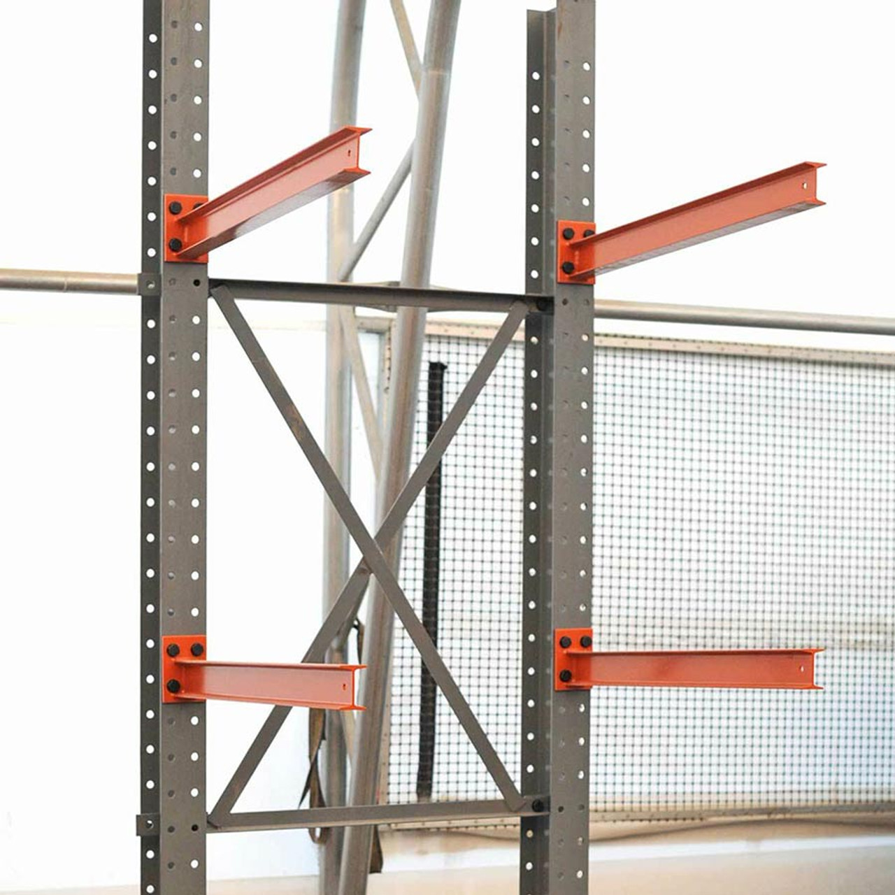 Assembled cantilever racking arms