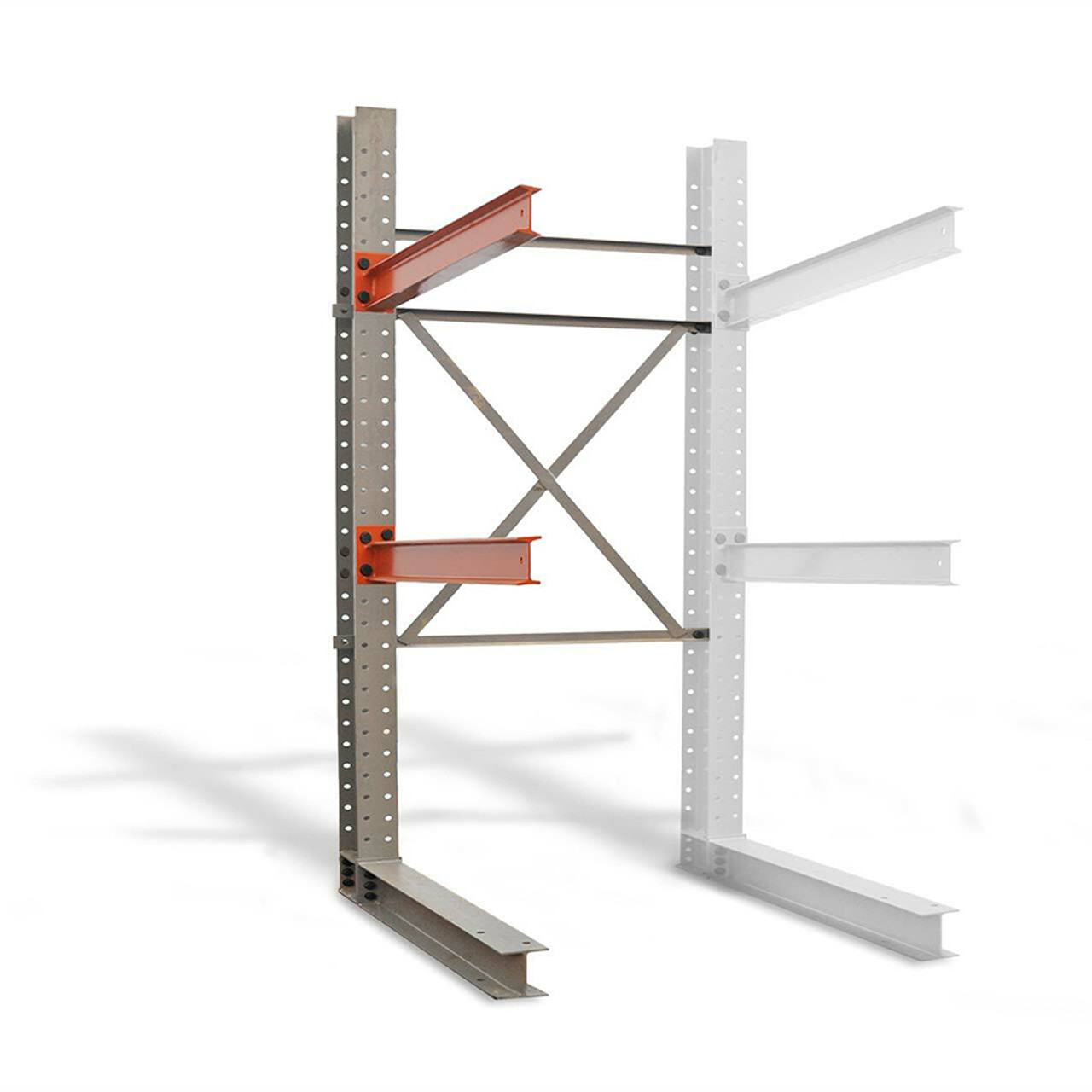 Single sided add-on cantilever rack kit