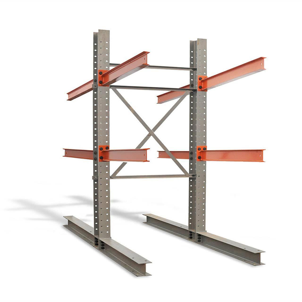 Double sided cantilever rack starter kit