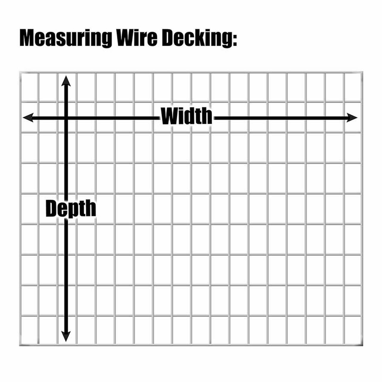 How to measure wire decking for pallet racking