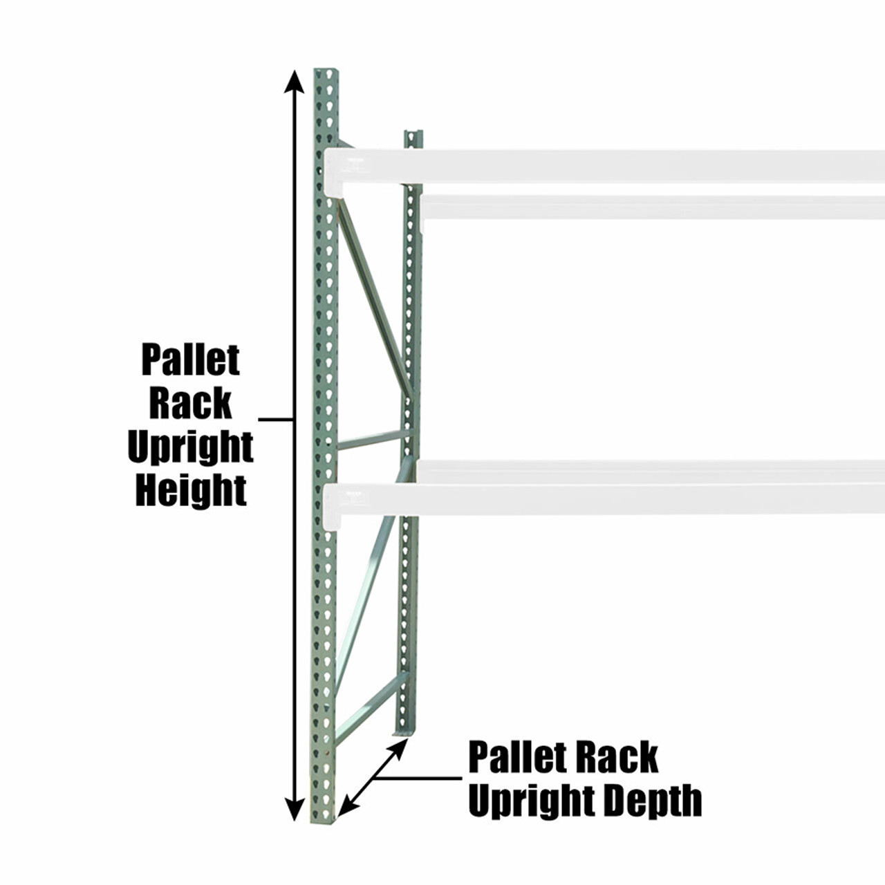 How to measure pallet rack upright columns
