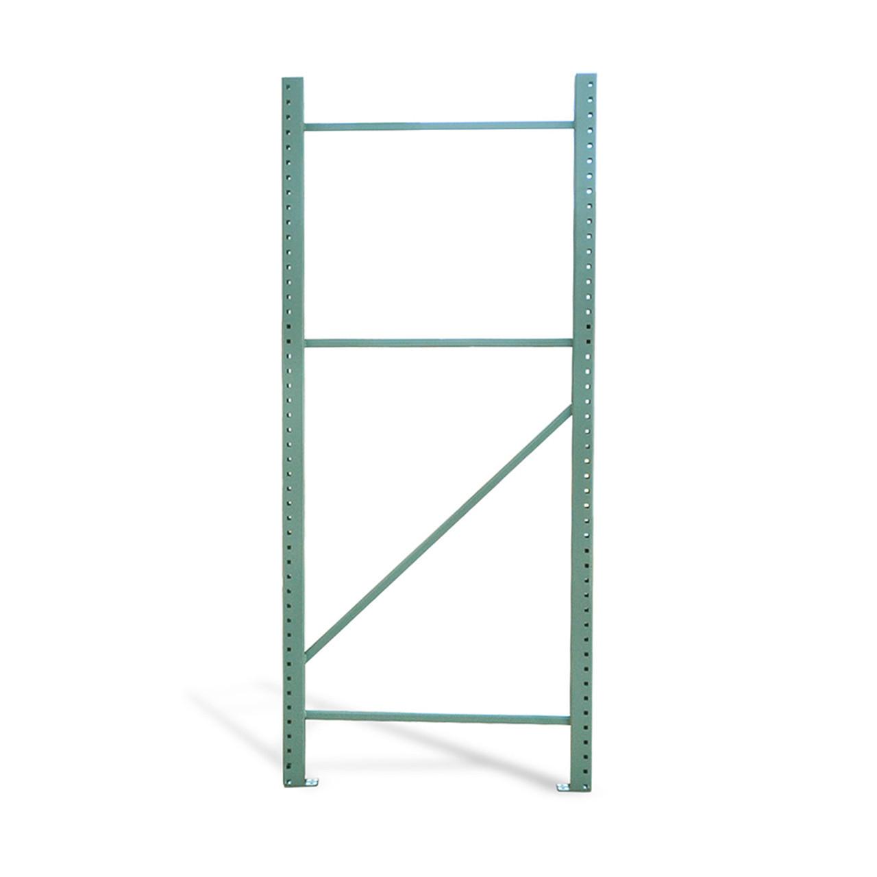 Single pallet rack upright column