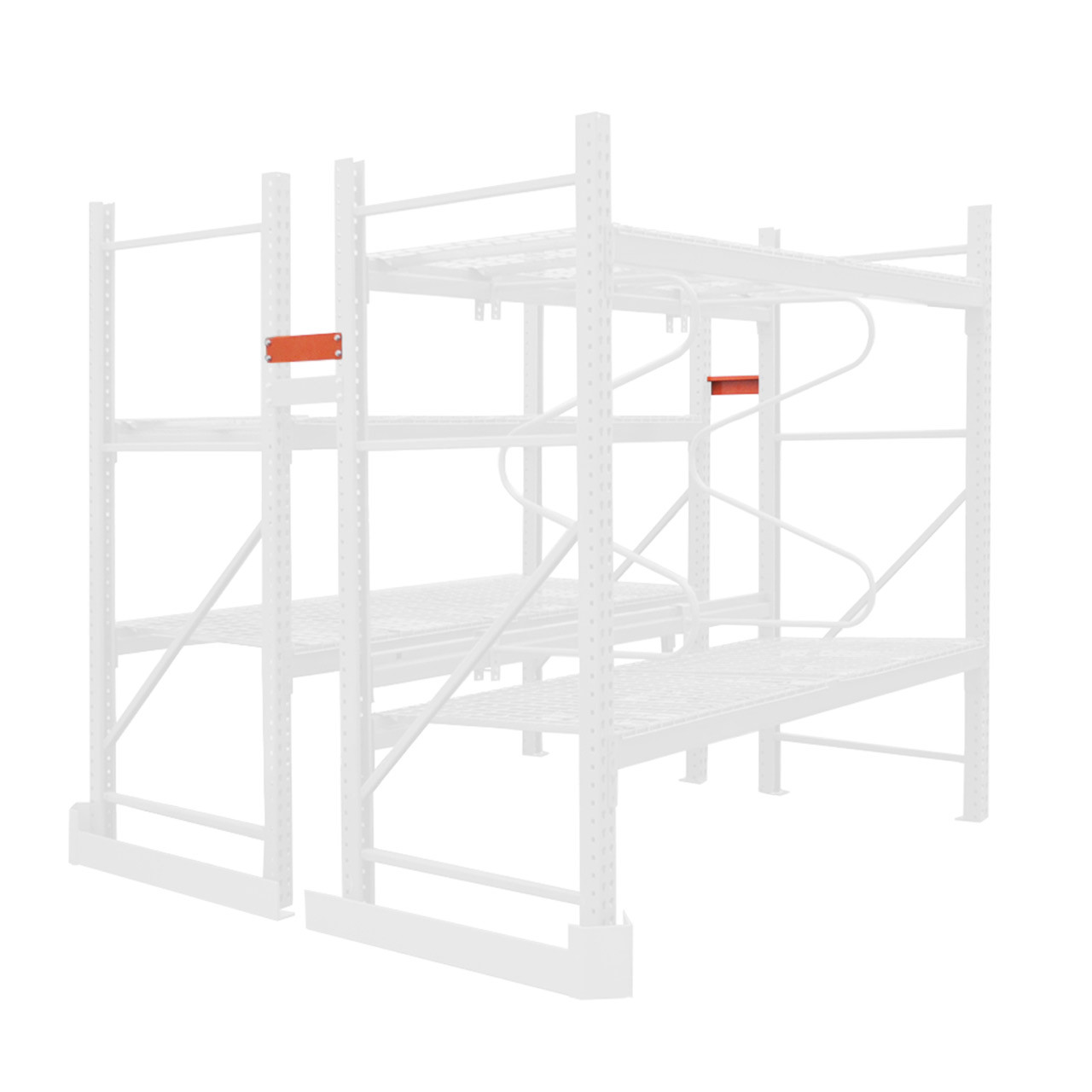 Pallet racking with row spacers