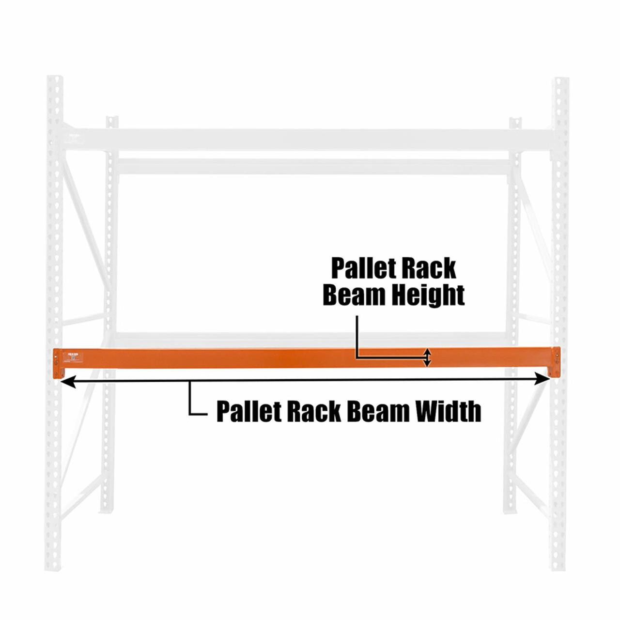 How to measure pallet rack beams
