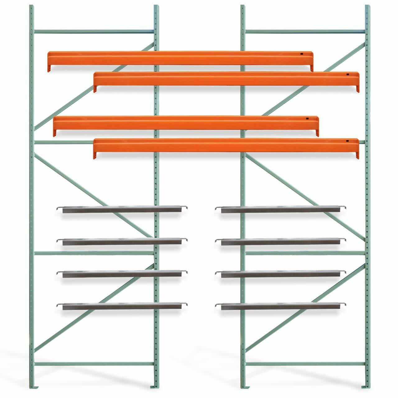 """48""""D Pallet racking starter kit with pallet supports"""