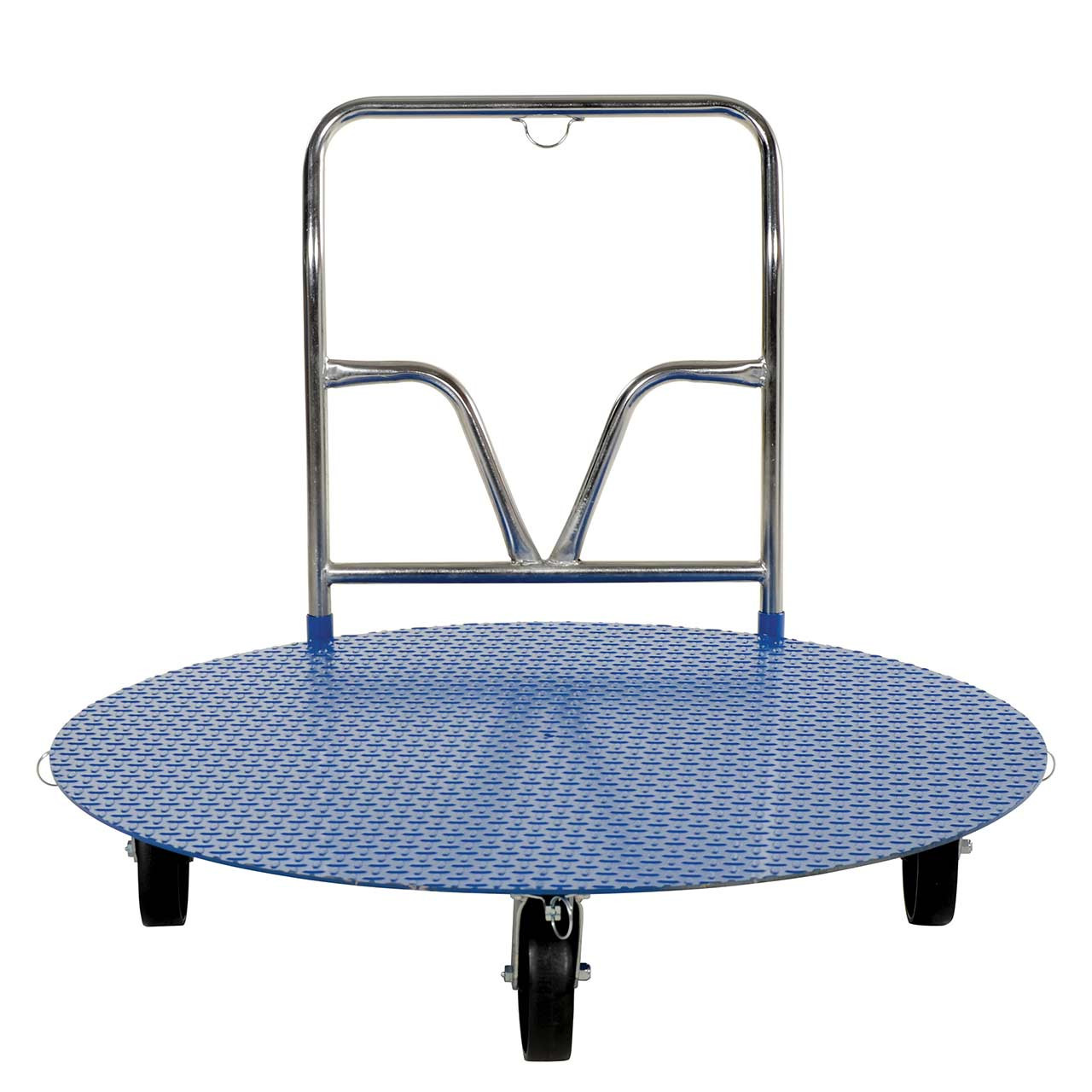 Front view of pallet carts with carousel