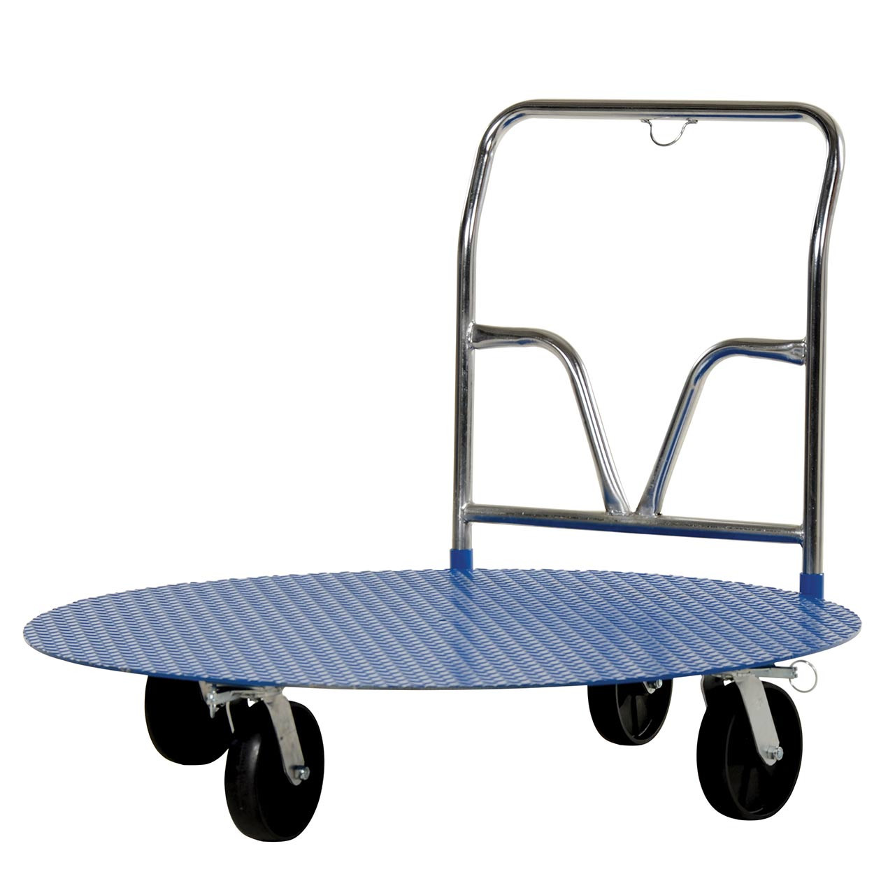 Side view of cart with carousel