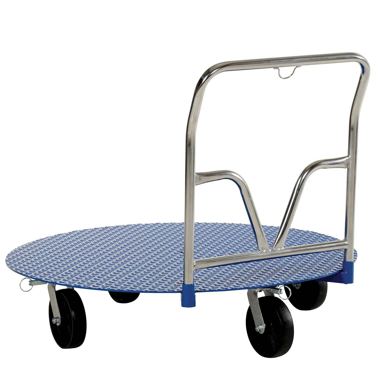 Back view of pallet carousel cart