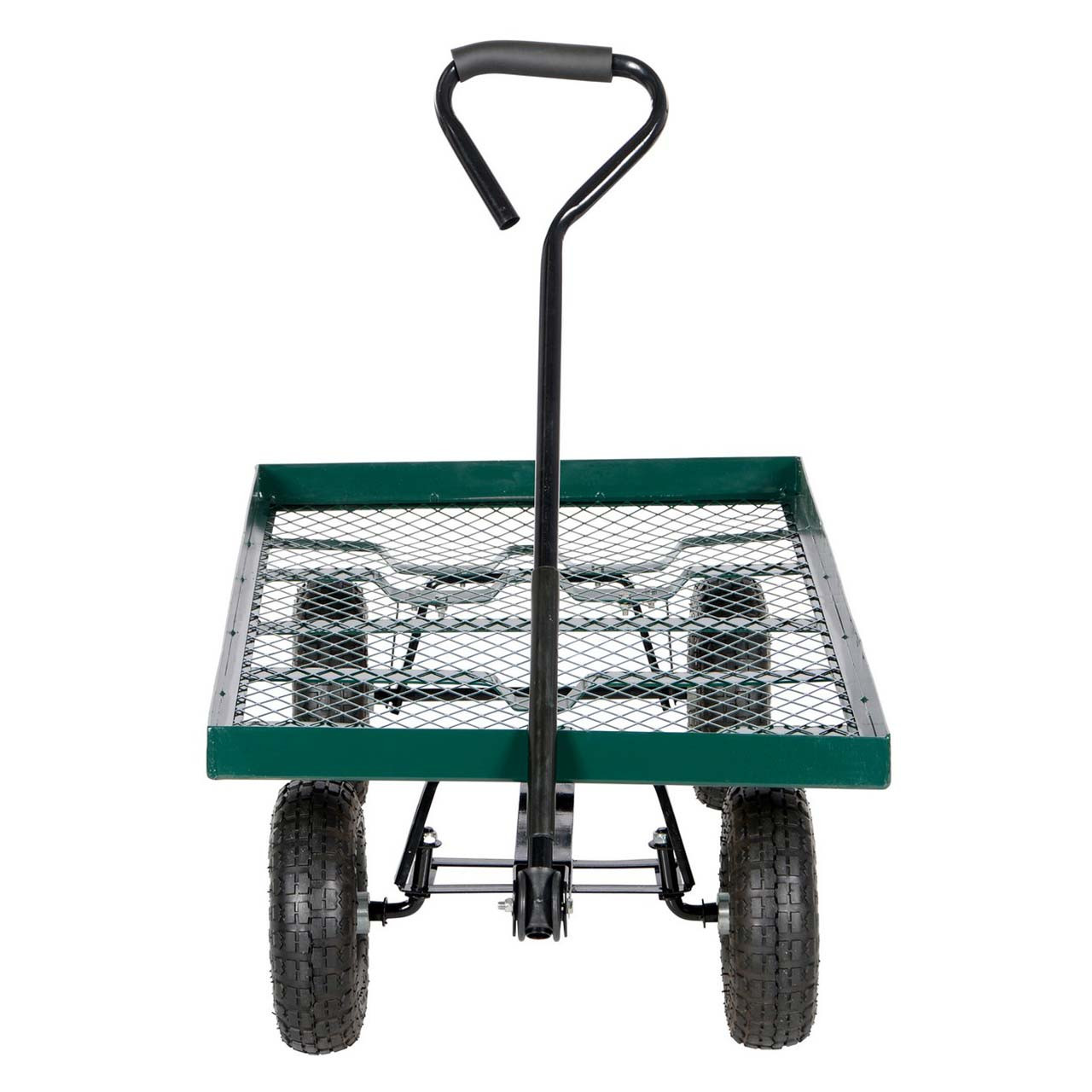 Front view of the Vestil LSC-2448-PT landscape cart