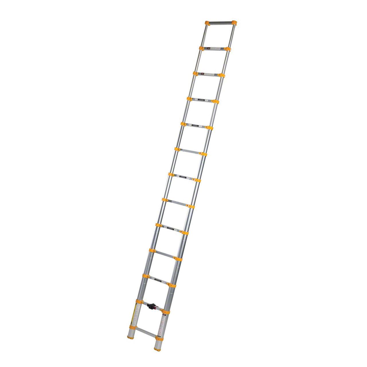 Aluminum telescopic ladder extended