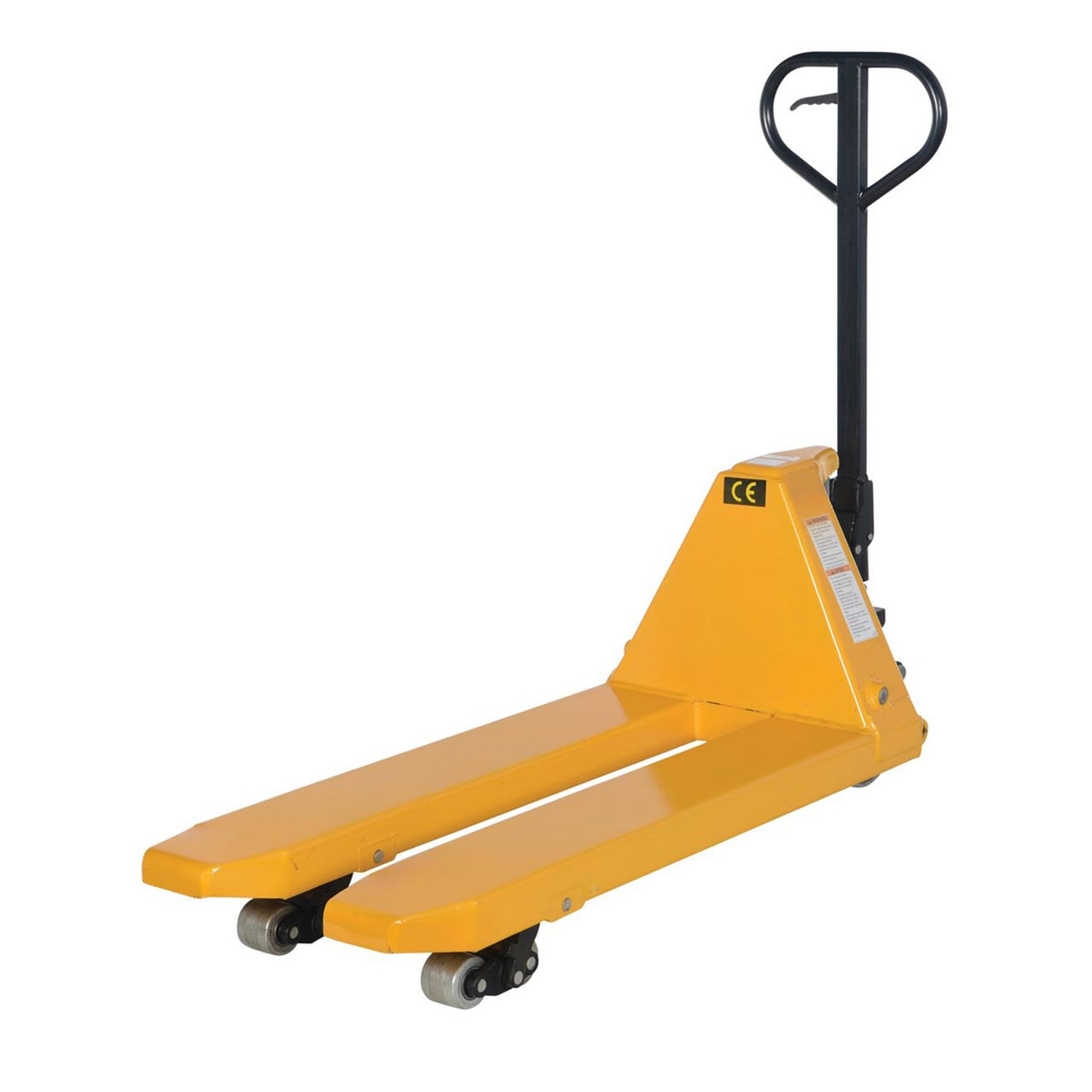 Full featured pallet jack has a capacity of 10,000 lb.
