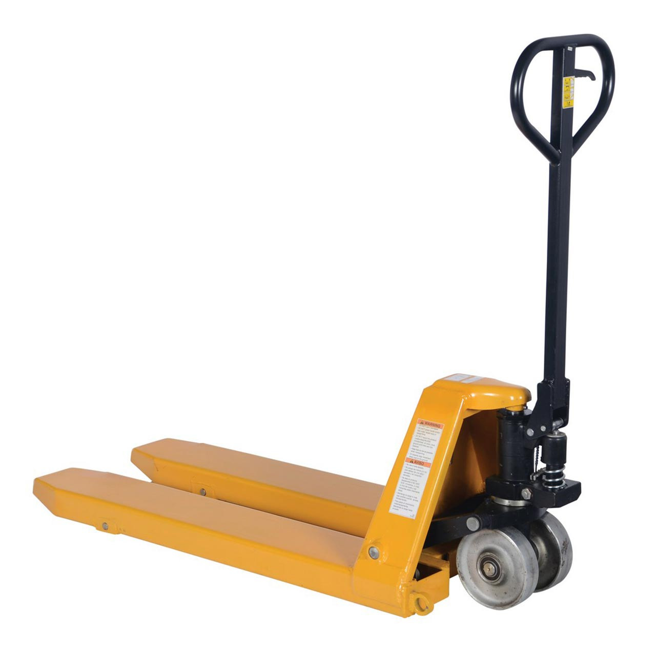 Pallet jack has additional tow loops for simple towing of the truck.