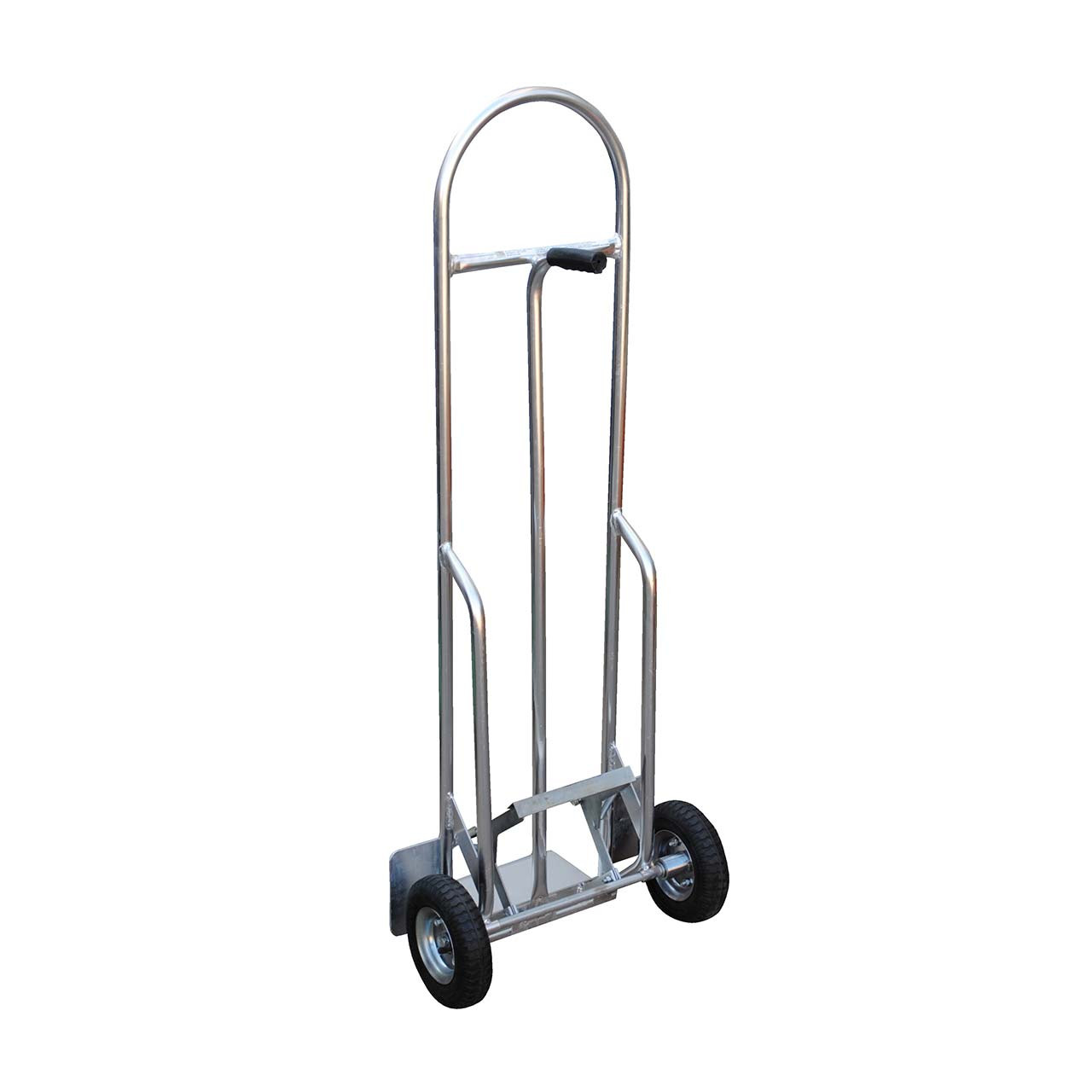 Back view of the high back aluminum hand truck
