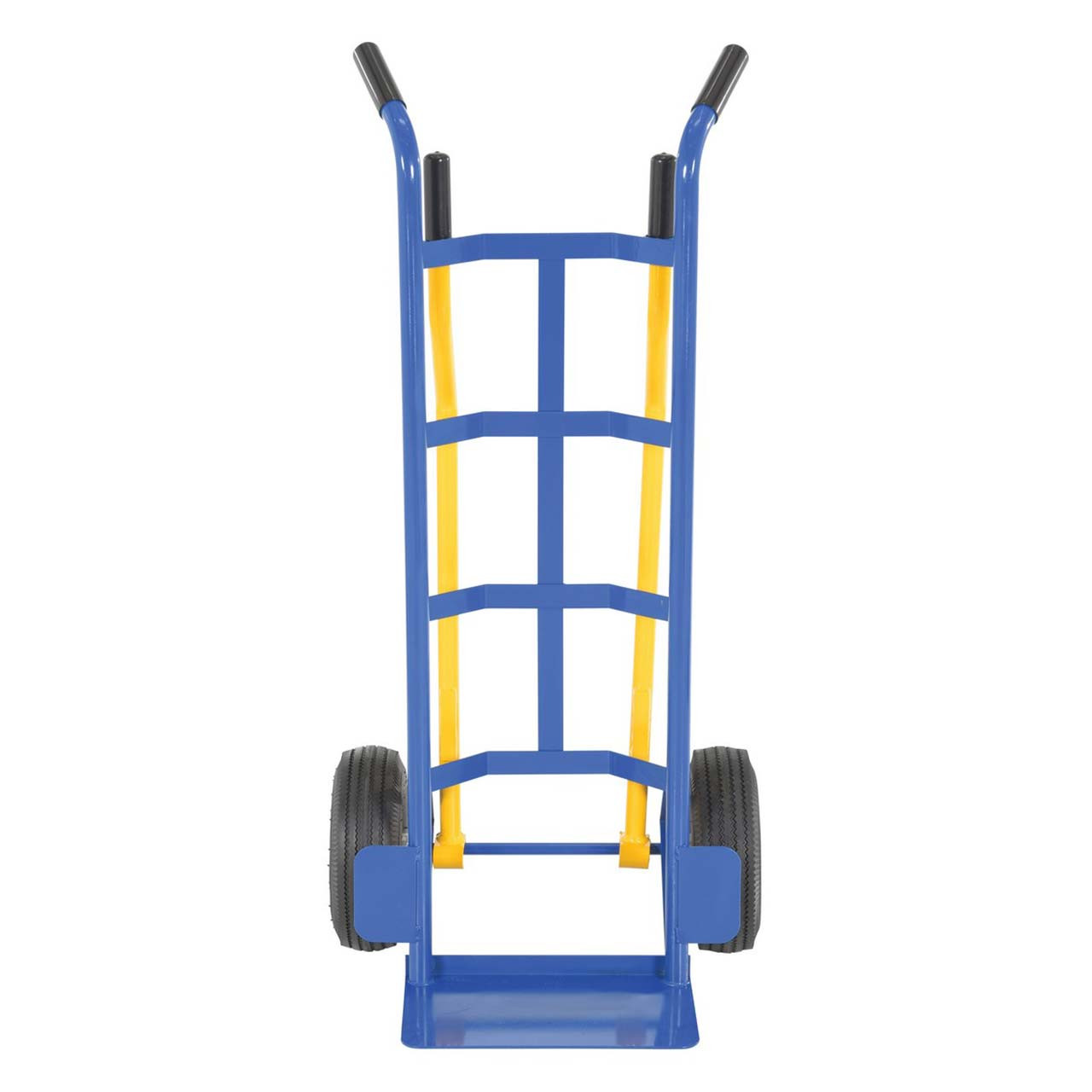 Front view of the 4 handle stair hand truck