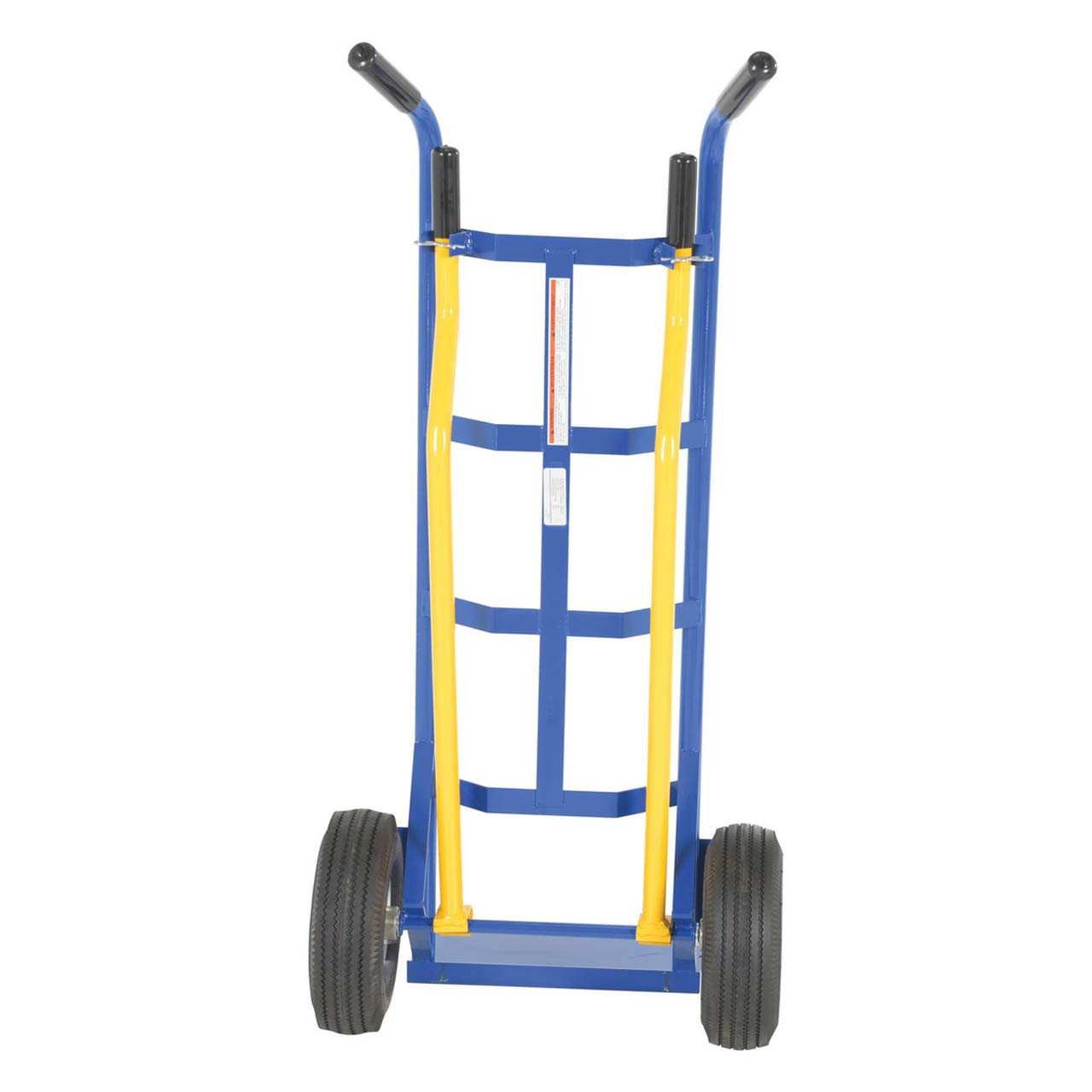 Back view of the 4 handle stair hand truck
