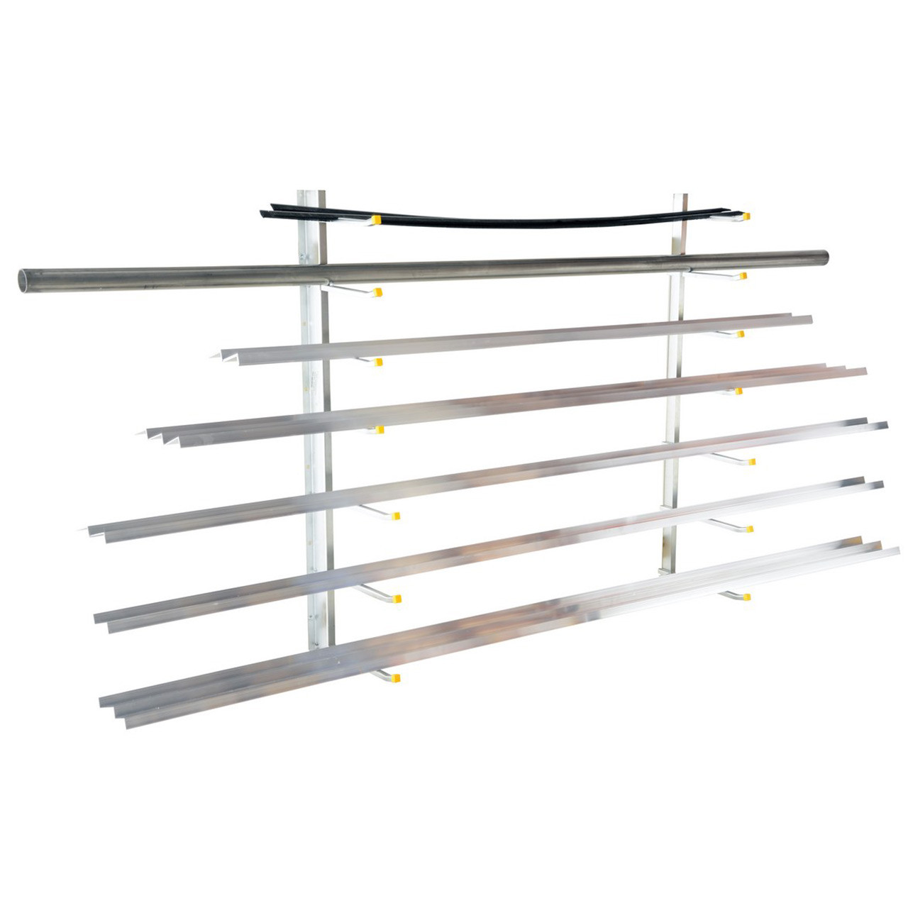 Wall-Mounted Material Rack With Material