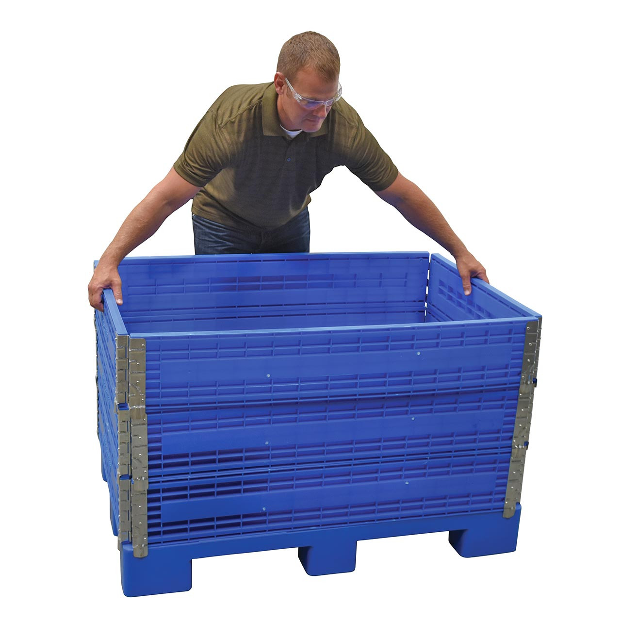 This folding container is each to assemble and add levels to