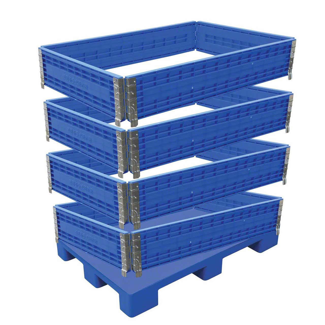 Containers can be from one to four levels high