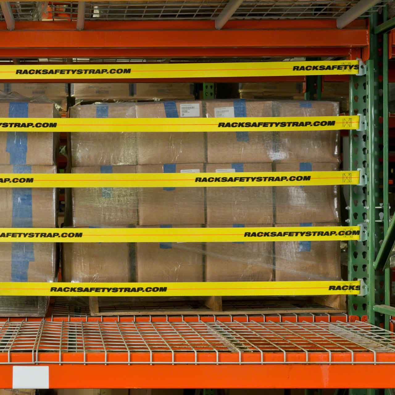 If desired, even 5 pallet rack safety straps can be used to secure your rack
