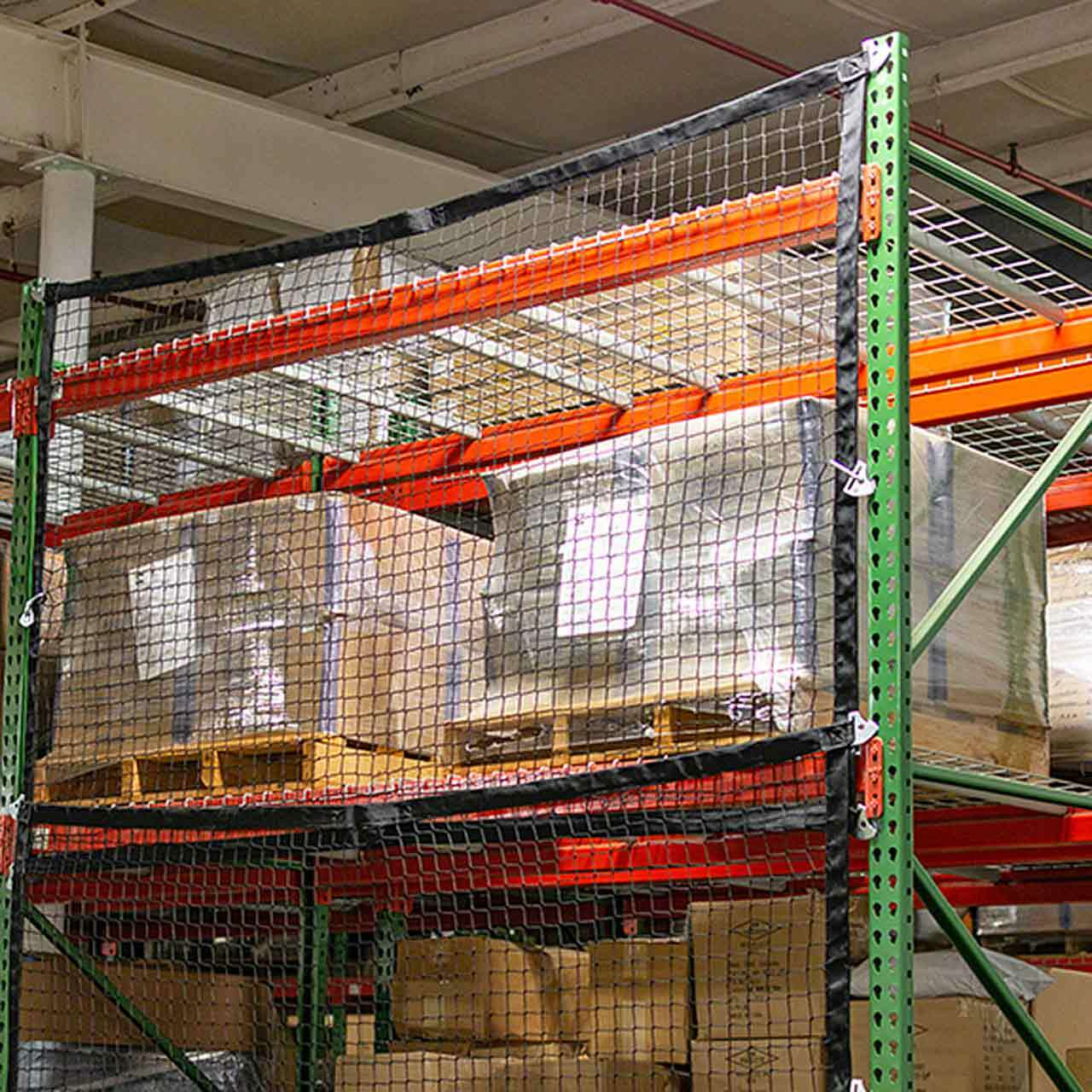 Modular Pallet Rack Safety Netting