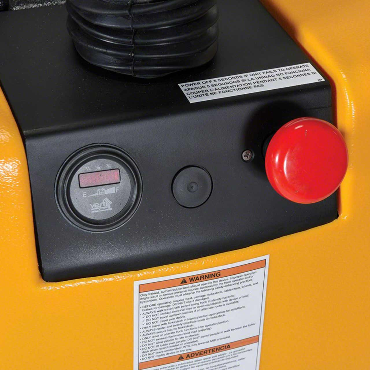 Controls for the EPT-2547-30 pallet jack