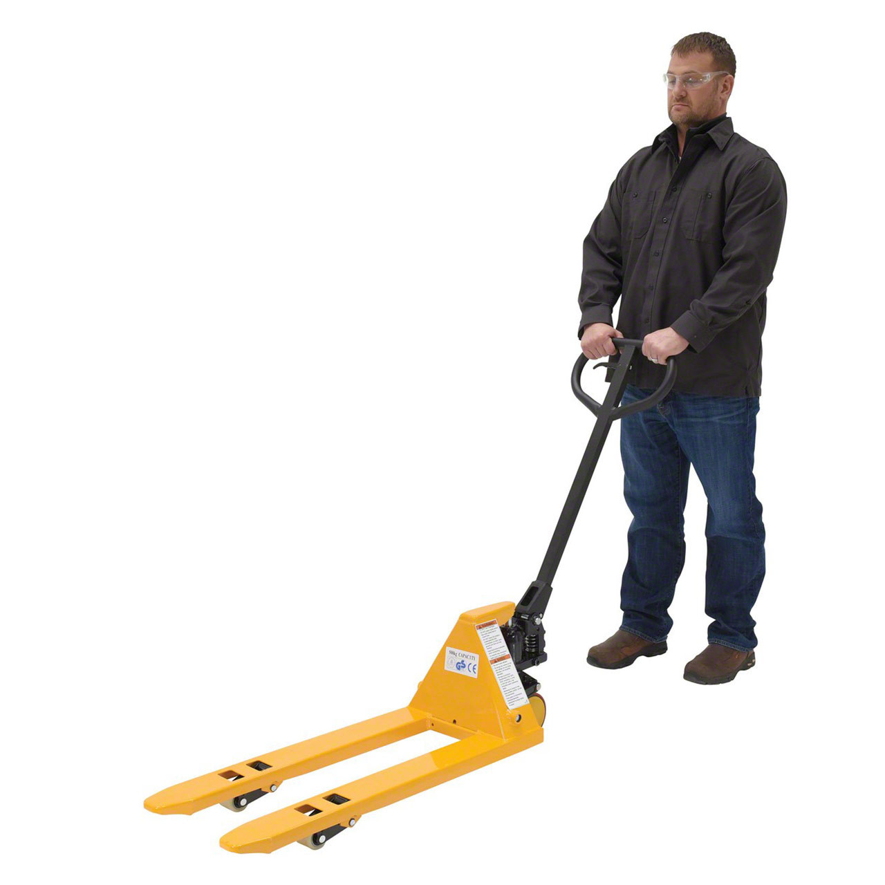 Easy to operation, the PM1-1532-MINI pallet jack has a smaller footprint